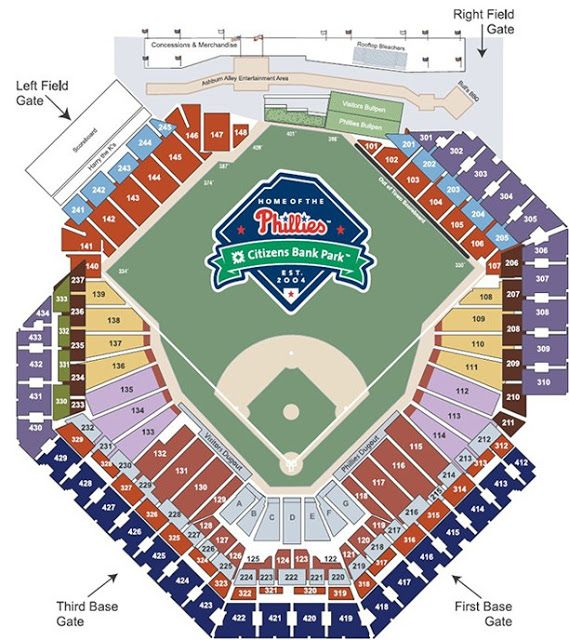 Fresh Citizens Bank Park Seating Chart With Seat Numbers Phillies Philadelphia Phillies Braves Tickets