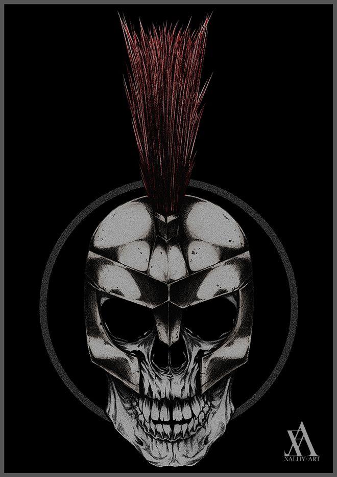 skull gladiator #SalnyArt