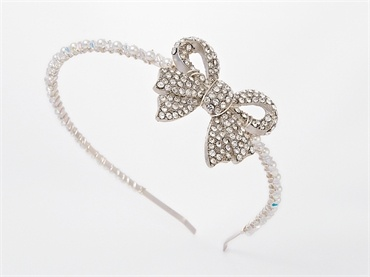 Rhinestone Bow headband www.lhgdesigns.co.uk