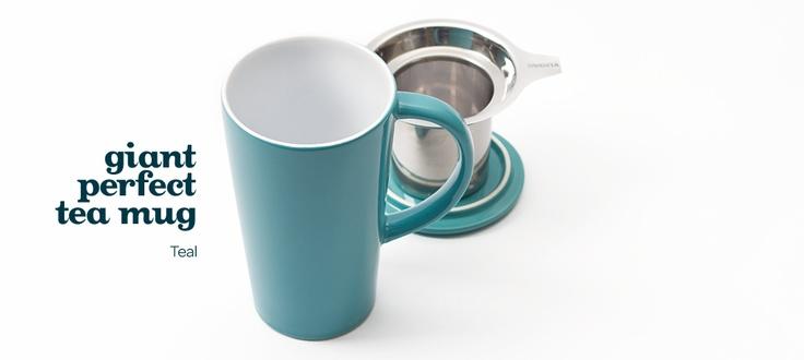 giant teal mug by DavidsTea