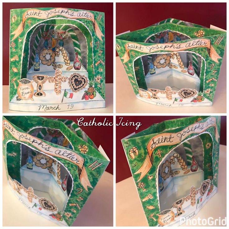 Diorama craft saint josephs altar in 2020 catholic