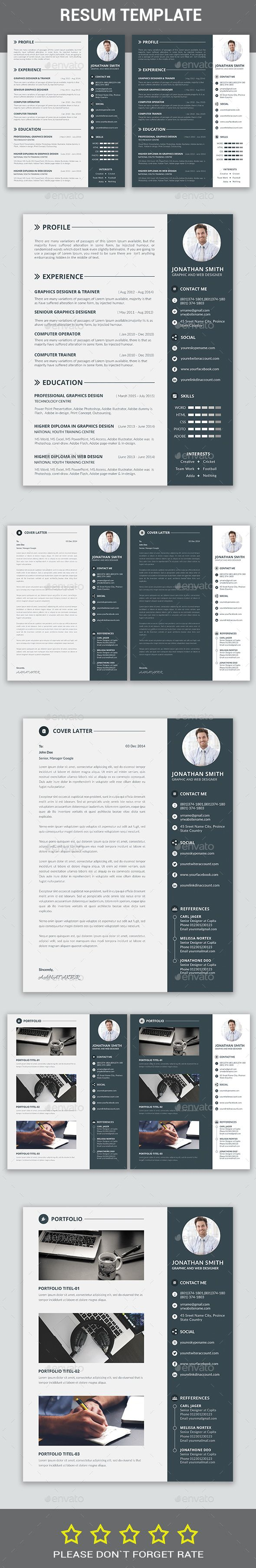 Resume Template PSD Download here httpgraphicrivernetitem 16