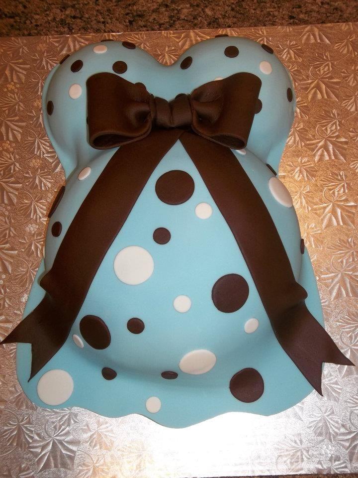 Stomach Baby Shower Cake