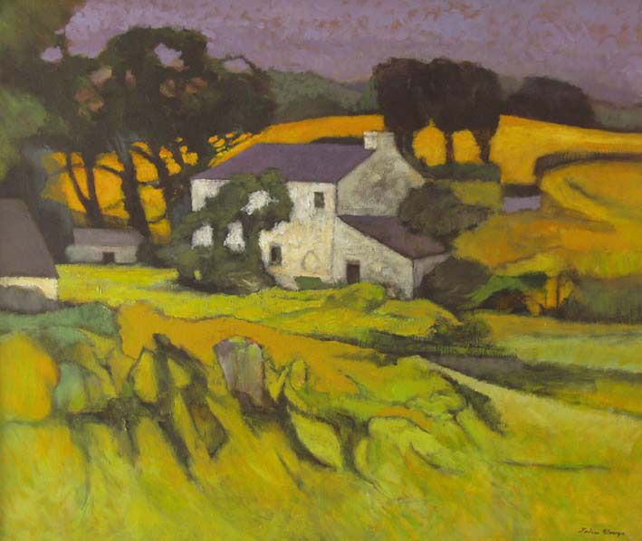 Late Summer Dyfed  John Elwyn  Oil on canvas c.1980  51 x 61 cm