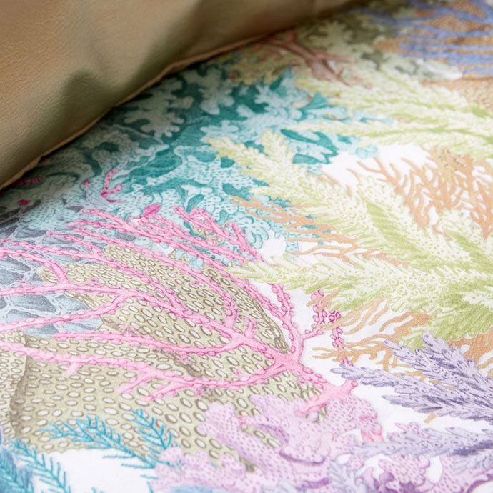 Image 3 of the product Multicoloured Coral Print Bed Linen