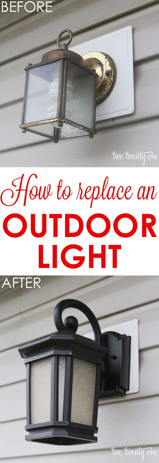 New Back Patio Light. Outside Porch LightsOutdoor House LightsOutdoor Light  FixturesOutdoor ...