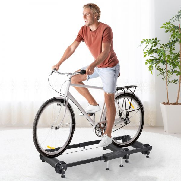 Soozier Adjustable Indoor Fitness Cycling Parabolic Roller Bike