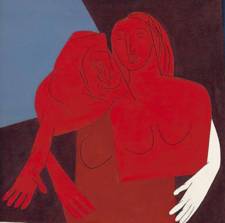 Tyeb Mehta (Indian, 1925-2009), Untitled (Two Figures), 1981
