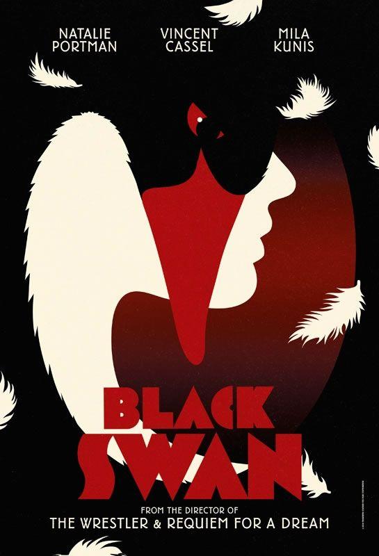 Black Swan (2010) | Poster designed by British design studio LaBoca