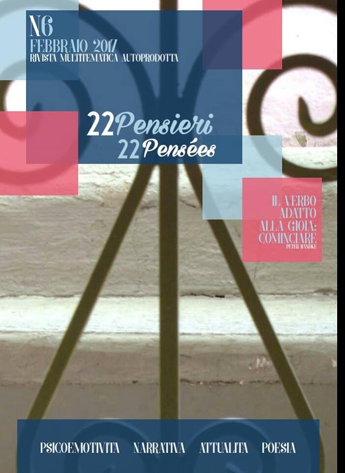 rivista multitematica autoprodotta - più di 40 collaboratori - scrittori, illustratori, fotografi, ciascuno tratta delle sue competenze e passioni - seguici su www.vingtdeuxpensees.eu