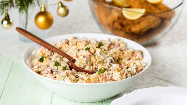 Salát z pečených brambor s jablkem a Lučinou Foto: