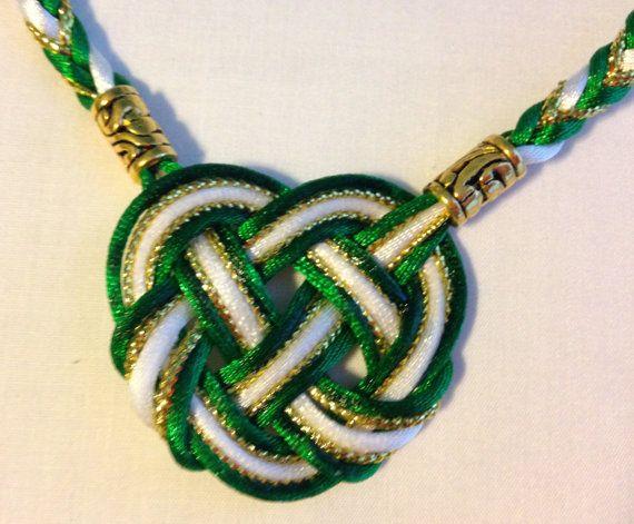 Premium Celtic Heart Handfasting Cord with Metallic Cord(5 cords, 3 stain, 2 metallic)