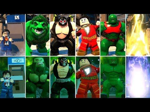 All Character Transformations & Suit-Ups in LEGO DC Super-Villains