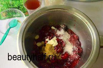 Вишневый соус к мясу на зиму