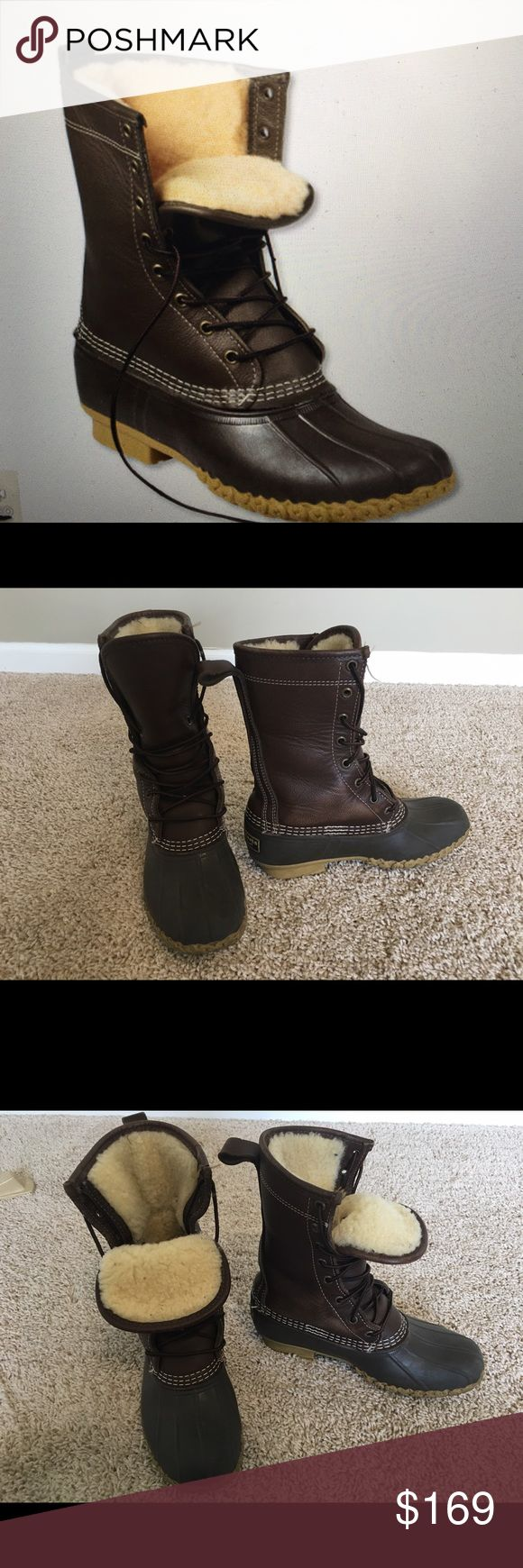 """Women's Bean Boots by L.L.bean 10"""" shearling-lined Excellent condition LL Bean premium shearling boots only worn 2-3x. Retails for $220 L.L. Bean Shoes Winter & Rain Boots"""