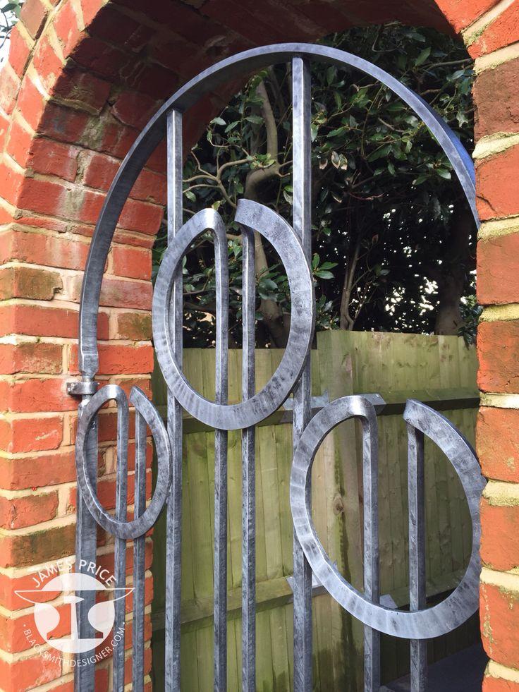 Circle contemporary forged blacksmith gate detail, by James Price Blacksmith