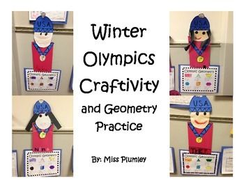 Enjoy the Winter Olympics with these little Olympians! Very easy to put together. Students can also practice their Geometry. A copy of the Geometry says Olympic Geometry then also another that just says Geometry so that it can be used during the year.