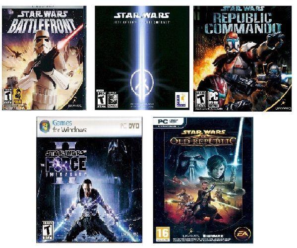 Star Wars: BUNDLED 4 PC GAMES & 1 BONUS GAME - : FREE SHIPPING!  - Jedi Knight,