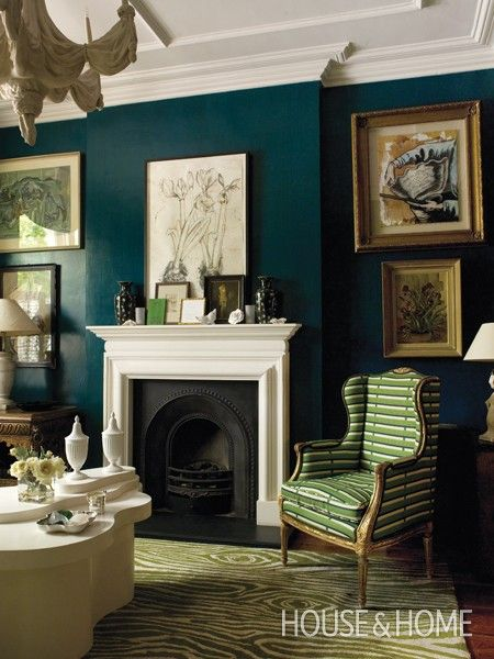 Bold Emerald Green Room   House & Home