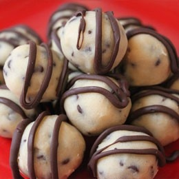 AMAZING... But take to a party.. or you will eat them all!Cookie Dough Bites. No raw eggs and no baking! And only 5 ingredients!