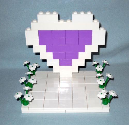LEGO-CUSTOM-WHITE-MEDIUM-LAVENDER-HEART-WEDDING-CAKE-TOPPER-FOR-BRIDE-GROOM