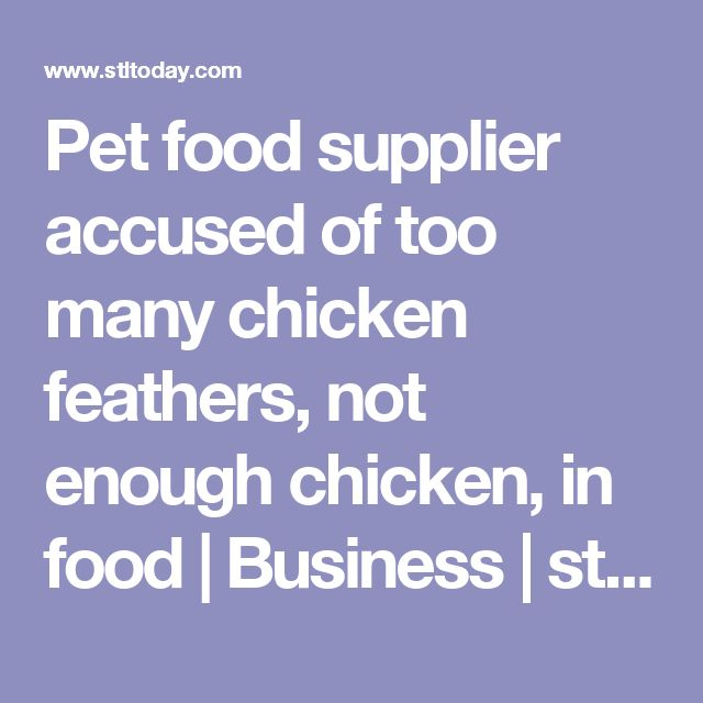 Pet food supplier accused of too many chicken feathers, not enough chicken, in food | Business | stltoday.com