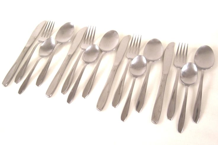 "New to LaurasLastDitch on Etsy: Silco ""Panorama"" Stainless Silverware Service for 4 (4-pc place settings)  Midcentury Flatware Set (34.99 USD)"