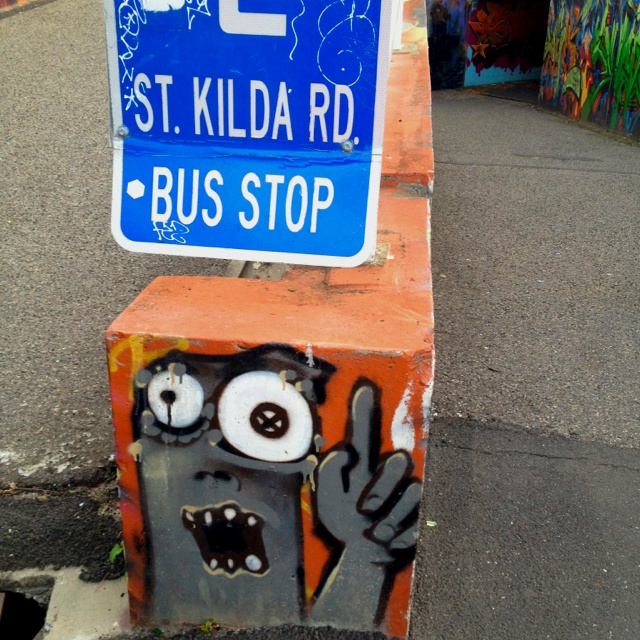 the better to see you! @ St. Kilda Junction, Melbourne, AU