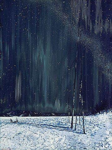 A Northern Night  - Frank Johnston  1917, Symbolism