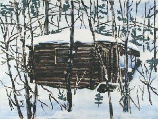 """Bosman """"Cabin""""  Medium: Solar and copper plate etching  Date: 2012  Edition of 15  Dimensions: 22 1/2 x 28 inches"""