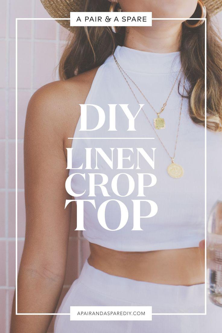 DIY Leinen Crop Top Tutorial #knittingmodelideas …