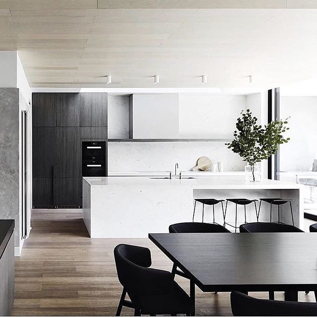Revisiting this one! The design is all about balance and proportion with the soft hue of Alba marble as a feature. The play on timber balances out the kitchen . Have a great weekend shot by @sharyncairns timber @woodcut_aus stone @cdkstone stoolsand dining chairs @hub_furniture #mimdesign #mimdesignresidential #cookingupastorm