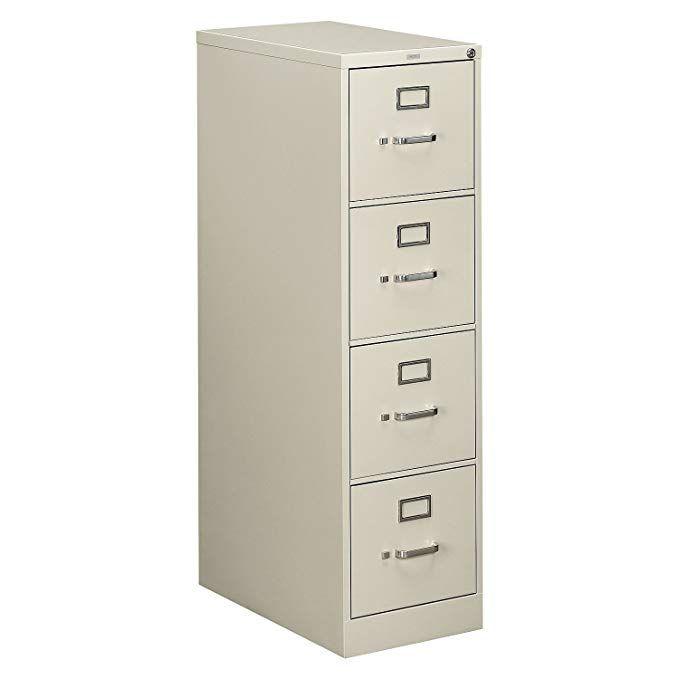 Hon 510 Series Ltr Size 4 Drawer Vert File W Lock 4 Drawer Letter File Vertical 15 X25 X52 Light Gray Review Filing Cabinet Drawers Hanging File Folders