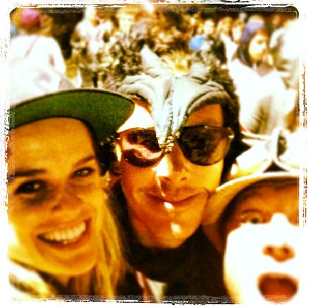 alice eve instagram's with bcumbs @ glastonbury!
