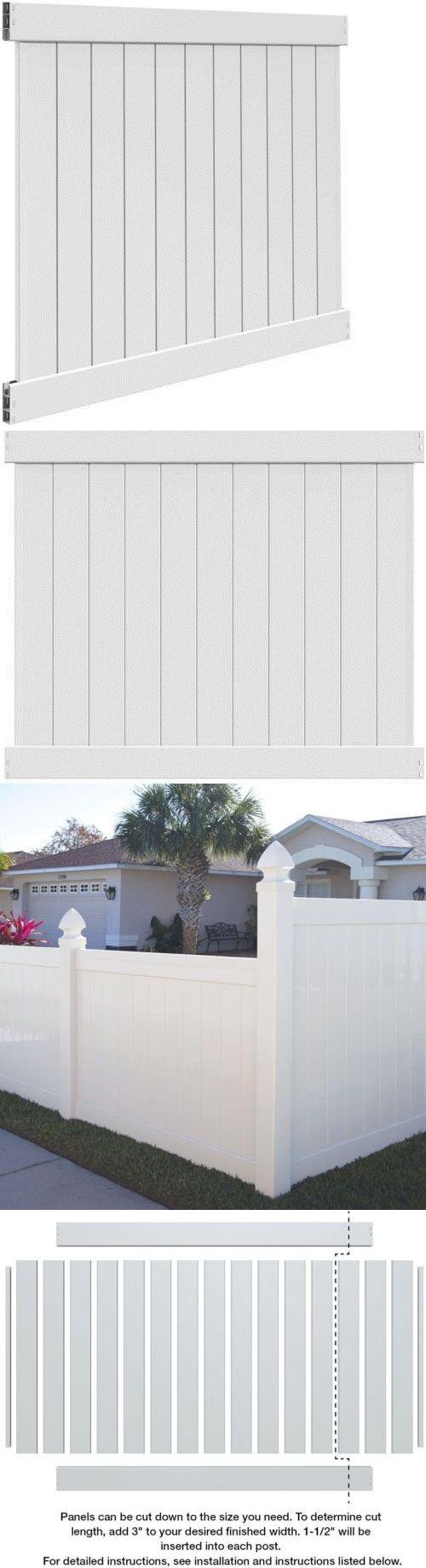 Fence Panels 139946: Veranda Vinyl Un Assembled Fence Panel Kit 5 Ft. H X 6 Ft. Diy Gate Lightweight -> BUY IT NOW ONLY: $81.16 on eBay!