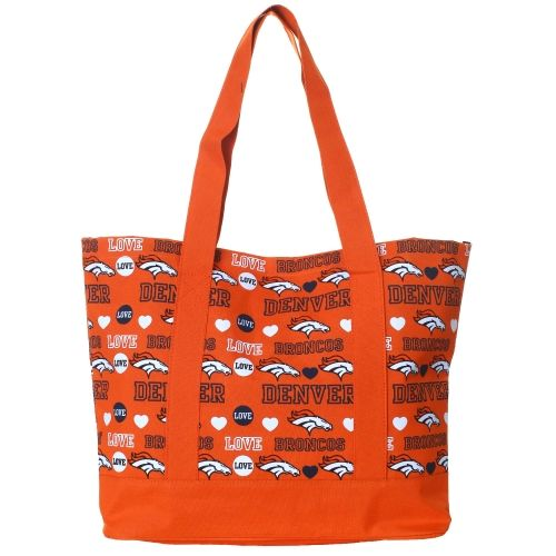 Denver Broncos Women's Love Print Tote Bag