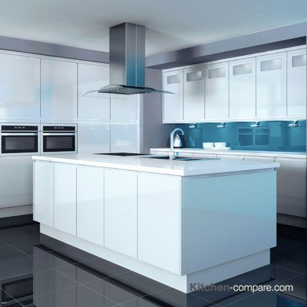 John Lewis - Skyline White Gloss Skyline is a stream-lined contemporary kitchen available in white and ivory. more information available here - http://bit.ly/1Q55O1C