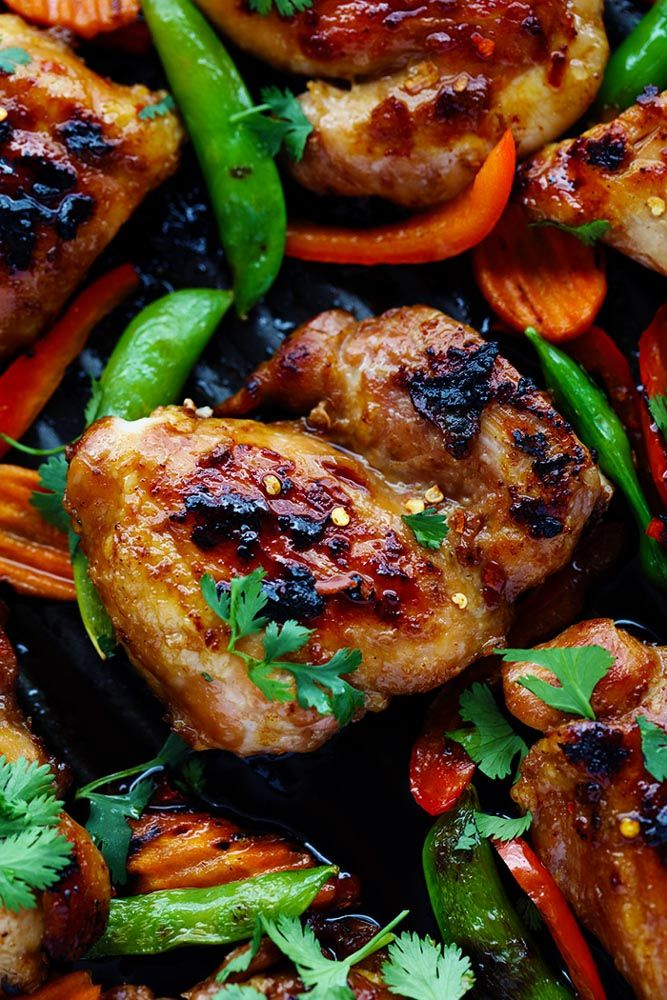 Thai Barbecue Chicken has a delicious thai marinade and is perfect served with some grilled veggies!  The entire family will love this recipe!  We spend a lot of time outside during the summer and grilling in my jam.  I love to grill in the summer and I especially love when the recipe turns out as delicious …