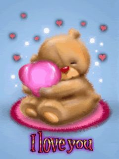 Animated, I Love You, Love, Valentine, Romance, Romantic, Cartoon, Heart, Hearts, Teddy Bear, Teddy, Bear, Pink, Blue, Cute, Sweet, Lovely, Nice, Hug, Cute_Stuff - See this Animated Gif on Photobucket. Click to play