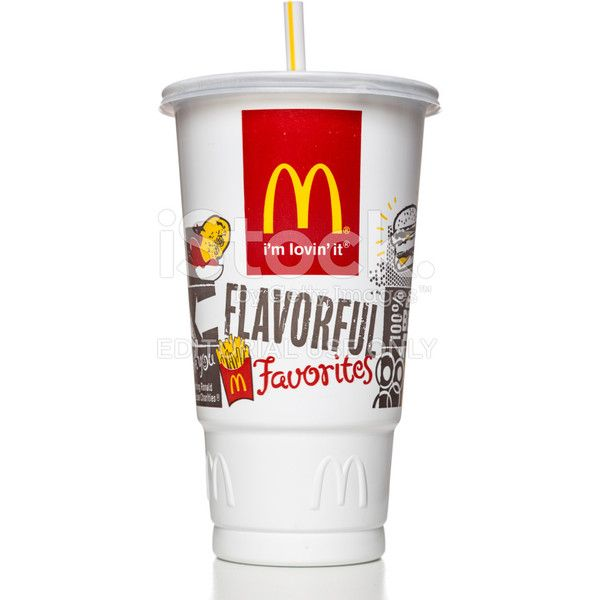 McDonalds plastic soda cup ❤ liked on Polyvore featuring food, drinks, filler and food and drink