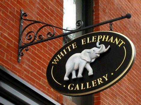 White Elephant Retail Sign | Danthonia Designs