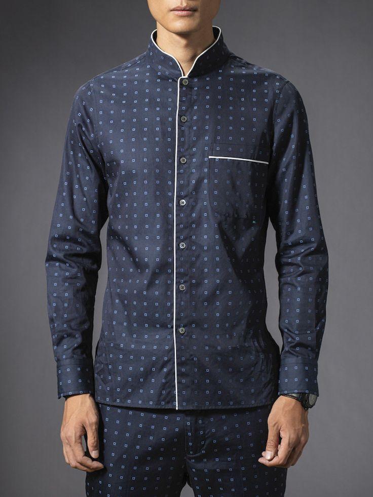 Cotton Stripe Pyjama Shirt