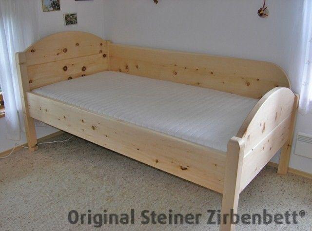 original steiner zirbenbett breitenstein massivholzbett