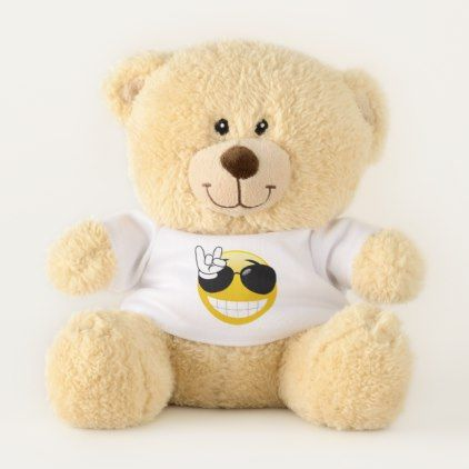Rock On Smiley Emoji Teddy Bear - diy cyo personalize design idea new special custom