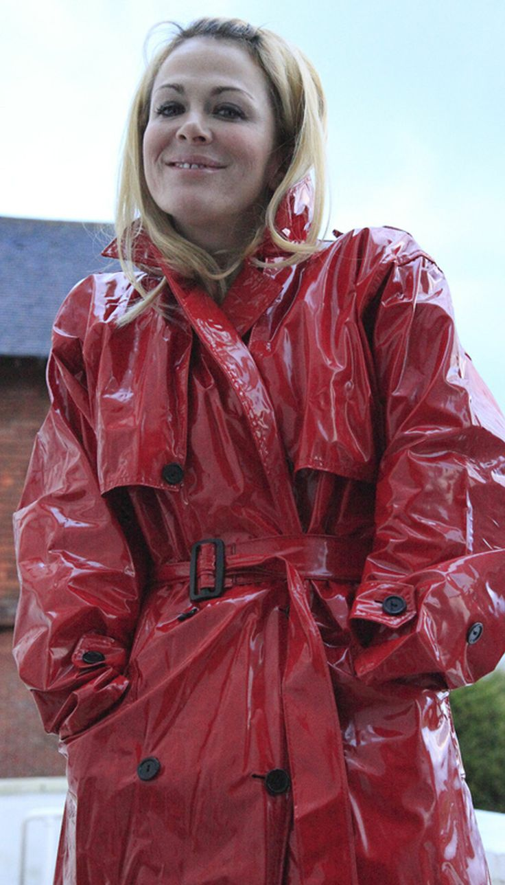 Red PVC Trench   Things to Wear   Pinterest