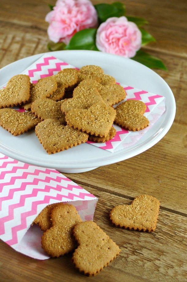 Cinnamon Honey Graham Cracker Hearts from Homegrown & Healthy