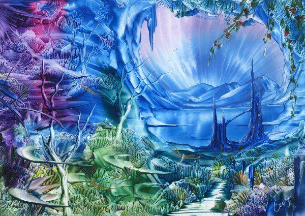 Castle Fantasy by Encaustic