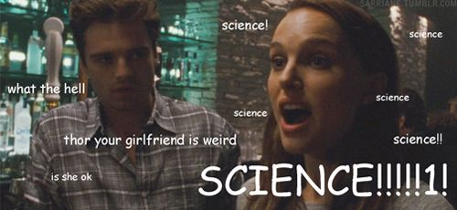 Bucky meets Jane LOL /  hahaha Jane + science adventures are back XD LOL / sarriane:  i was looking through black swan screencaps for an edit and i saw this cap of sebastian stan and natalie portman and now i'm imag...