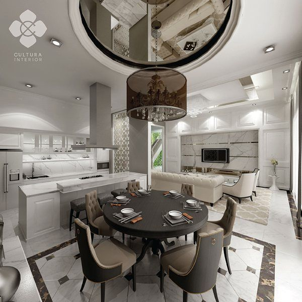Classic and elegant dining room with neutral choice of color. Perfect place for family and guests to gather.  Designed by @culturainterior  #interior #interordesign #diningroom #diningroomdesign #houseinterior #interiorinspiration #interiorsemarang #interiorindonesia #culturainterior