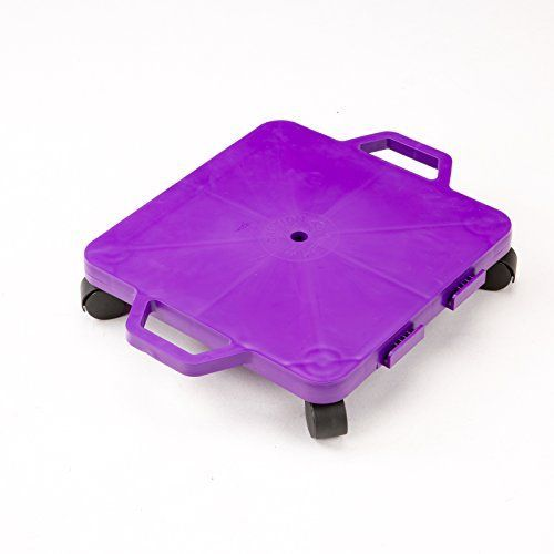 Cosom 16 Inch Plastic Childrens Scooter Board With 2 Inch NonMarring Nylon Casters and Safety Guards for Physical Education Class with Safety Handles Sitting Scooter Board Purple * See this great product.